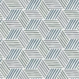 Scott Living 30.75-sq ft Blue Green Vinyl Geometric Self-Adhesive Peel and Stick Wallpaper