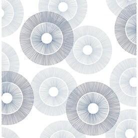 Scott Living 30.75-sq ft Blue Vinyl Geometric Self-Adhesive Peel and Stick Wallpaper