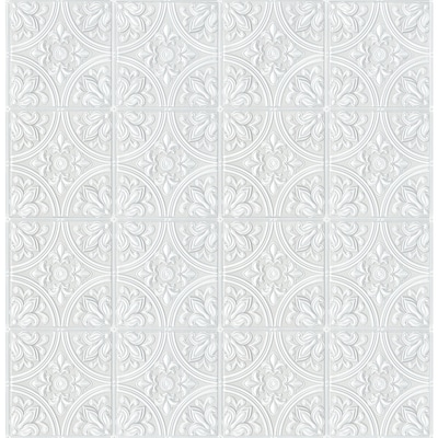56 4 Sq Ft White Vinyl Paintable Textured Abstract 3d Prepasted Paste The Paper Wallpaper