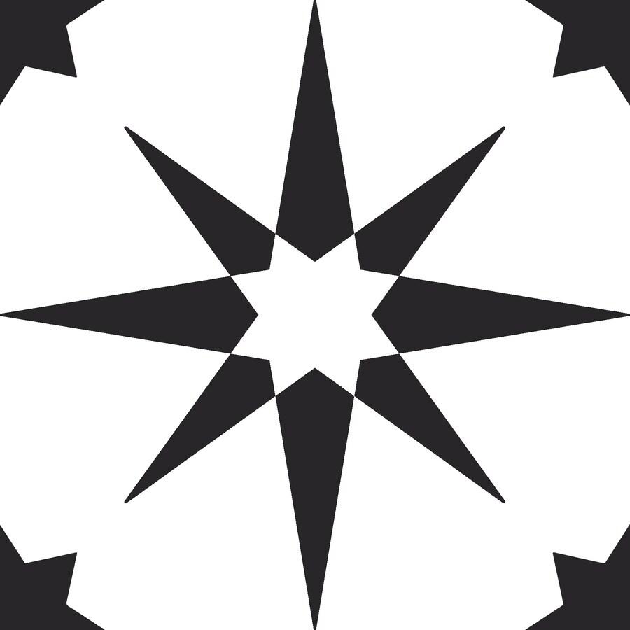FloorPops 20-Piece 12-in x 12-in Black Peel and Stick ...