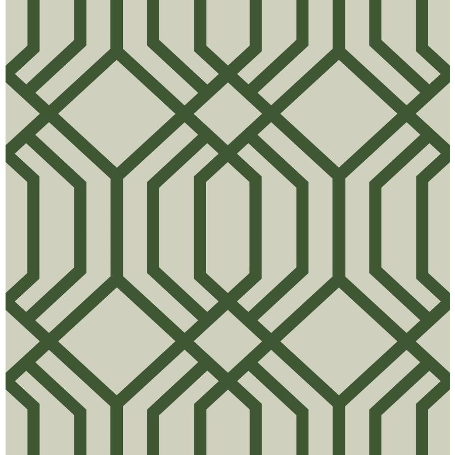 Scott Living 30 75 Sq Ft Emerald Vinyl Geometric Self Adhesive Peel And Stick Wallpaper In The Wallpaper Department At Lowes Com