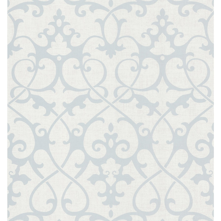 Brewster Wallcovering Light Grey Non-Woven Damask Wallpaper