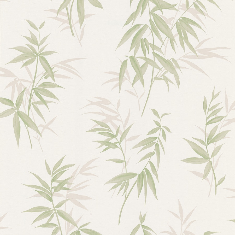 Brewster Wallcovering Kitchen and Bath Resource III Cream Vinyl Ivy/Vines Wallpaper
