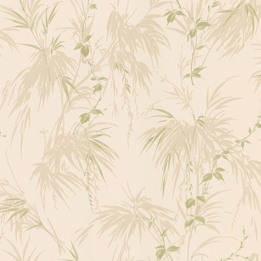 Brewster Wallcovering Kitchen and Bath Resource III Beige Vinyl Ivy/Vines Wallpaper
