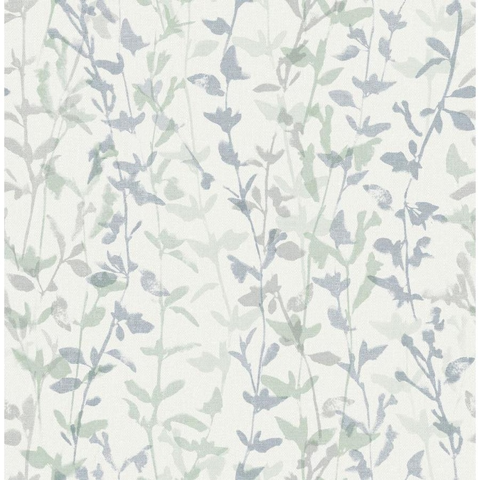 Scott Living 30 75 Sq Ft White Vinyl Floral Self Adhesive Peel And Stick Wallpaper In The Wallpaper Department At Lowes Com