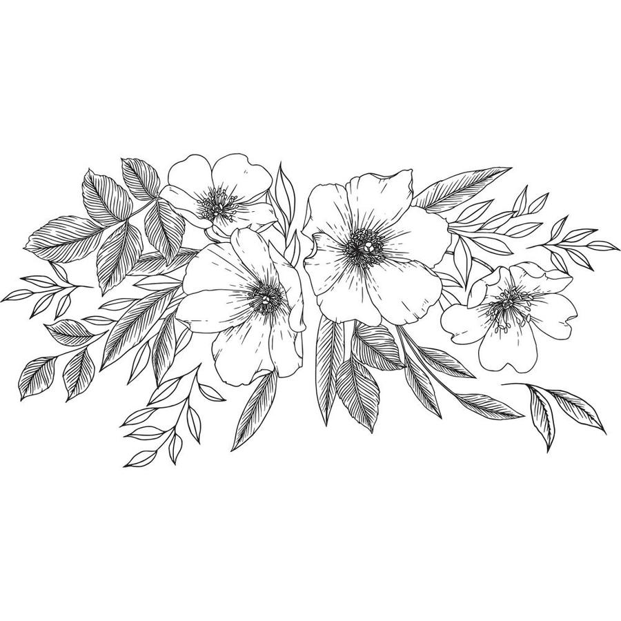 Wallpops Love Karla Designs Wild Blossoms Wall Decal In The Wall Decals Department At Lowes Com