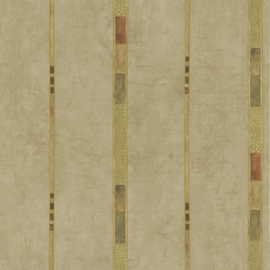Brewster Wallcovering Kitchen and Bath Resource III Beige Vinyl Stripes Wallpaper