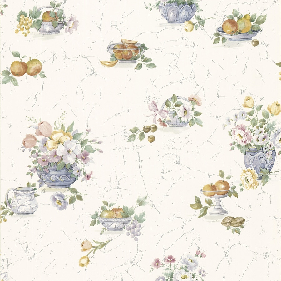 Brewster Wallcovering White Classic Wallpaper