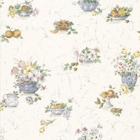 Brewster Wallcovering Kitchen And Bath Resource Iii White Vinyl Fl Wallpaper