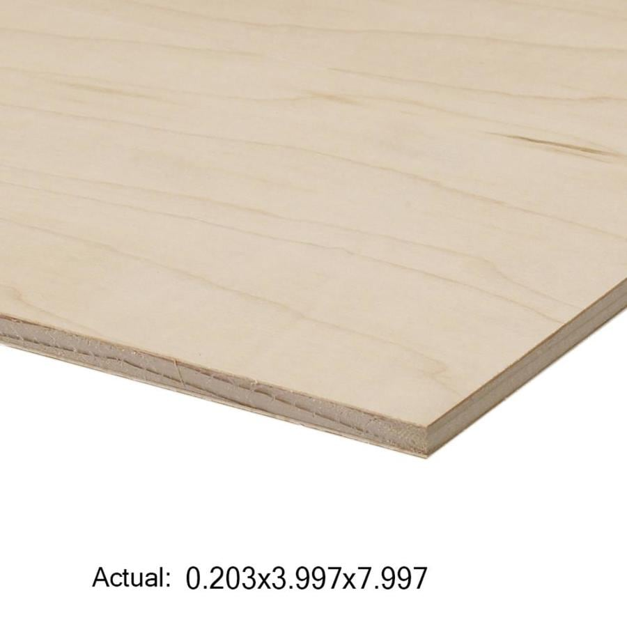 Top Choice 1/4-in HPVA Maple Plywood, Application As 4 x 8