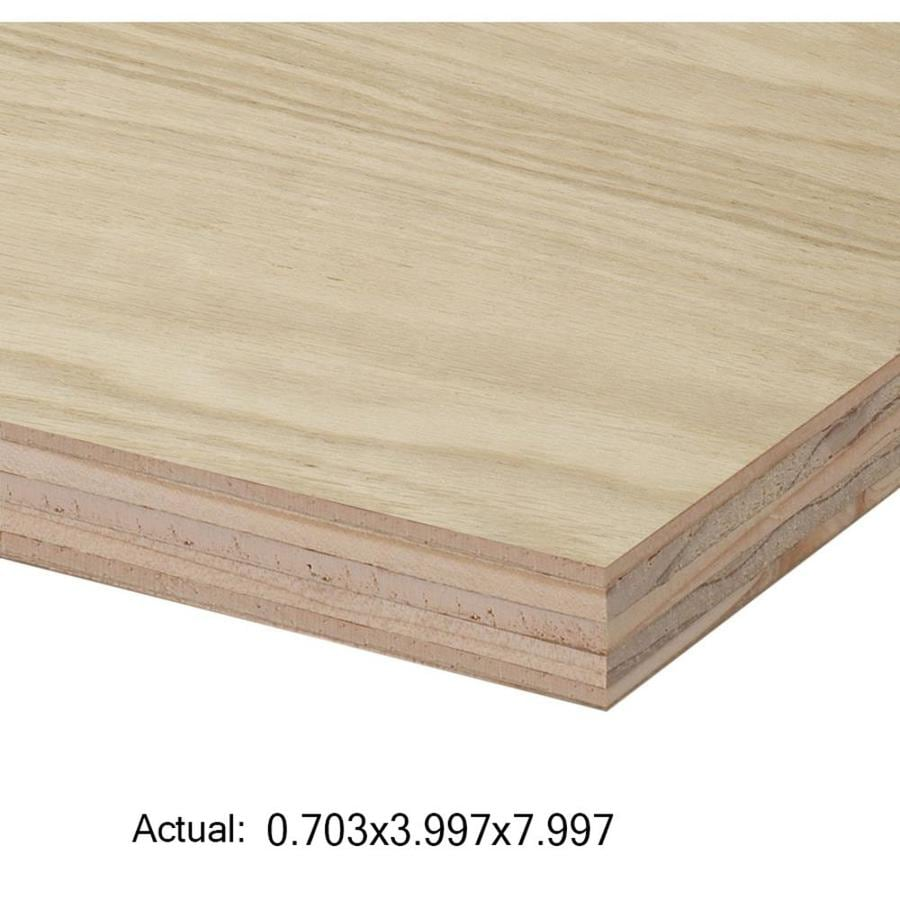 Top Choice 3/4-in HPVA Oak Plywood, Application as 4 x 8