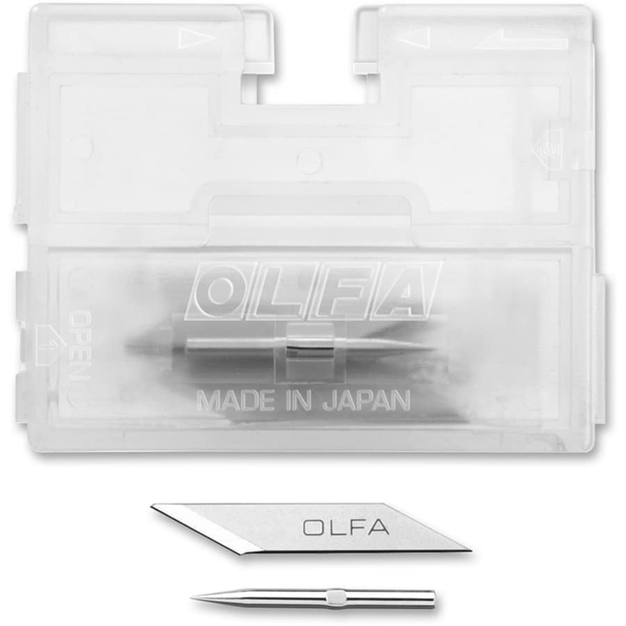 OLFA 5-Pack 1.6-in Stainless Steel Straight Replacement Utility Blade