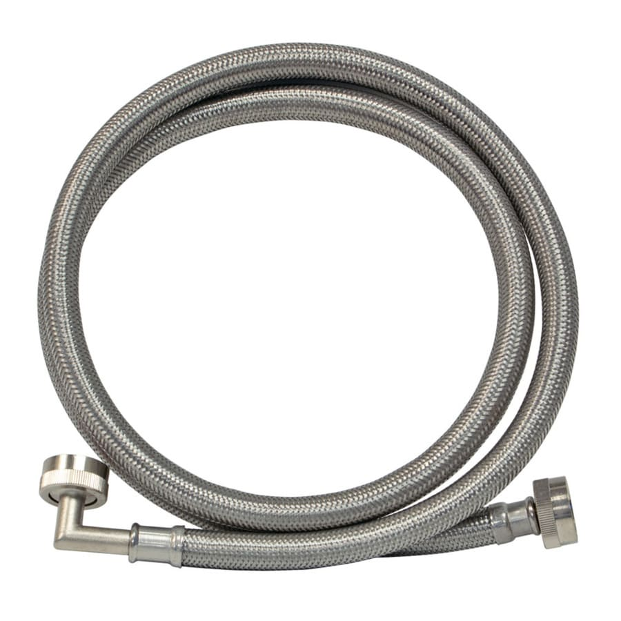 shop eastman 4 ft 1500 psi braided stainless steel washing machine fill hose at. Black Bedroom Furniture Sets. Home Design Ideas