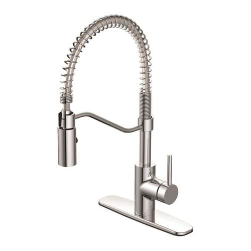 Seasons Kitchen Faucet Brushed Nickel Single Handle Pull-Down 1.8 GPM