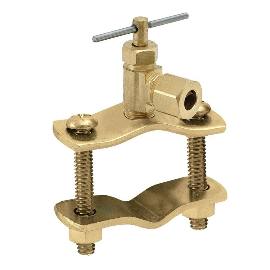 EASTMAN Ice Maker Brass 1/4-in Compression Multi Turn Saddle Valve