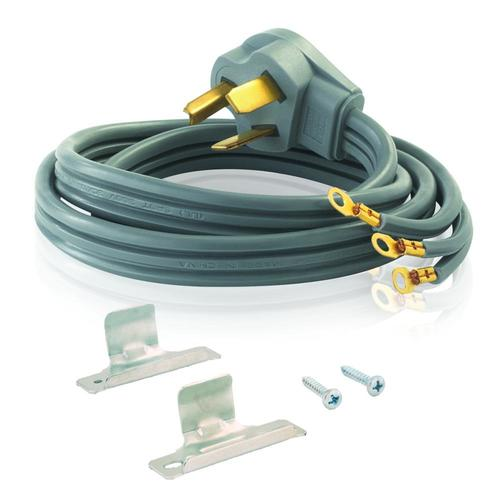eastman 10 ft 3 prong gray dryer appliance power cord at lowes com 120 volt 3 prong plug wiring colors mirrortap radar detector power cord