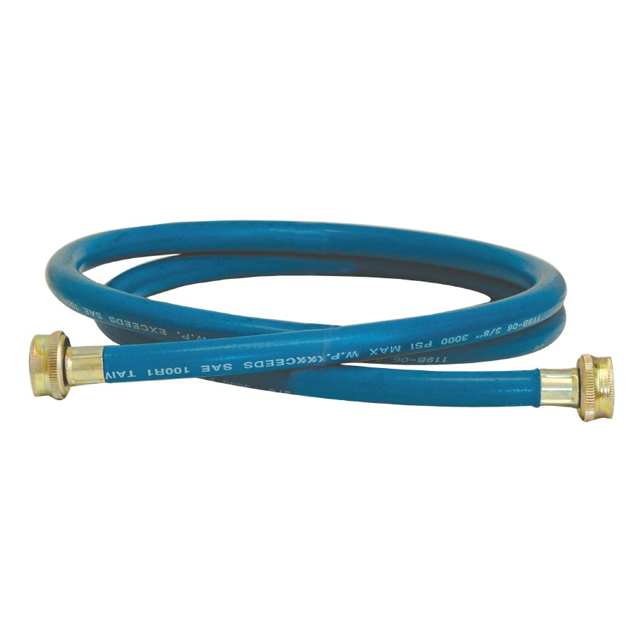 EASTMAN 6-ft 1,200-PSI Rubber Washing Machine Connector