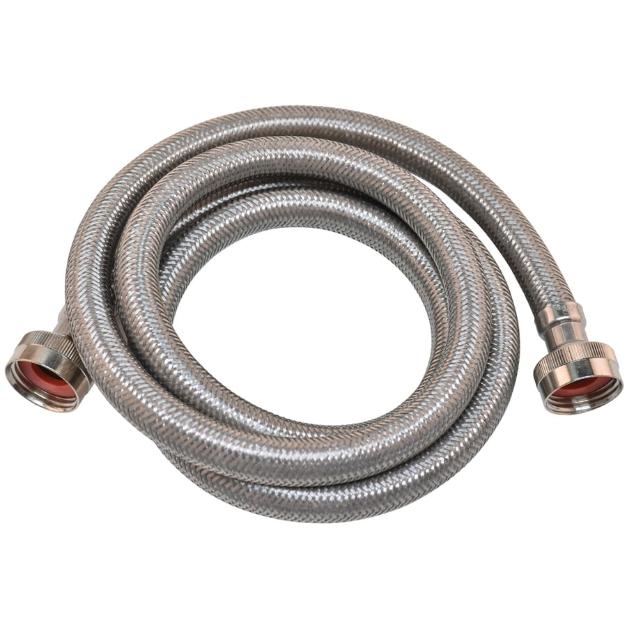 EASTMAN 4-ft 1,500-PSI Stainless Steel Washing Machine Connector
