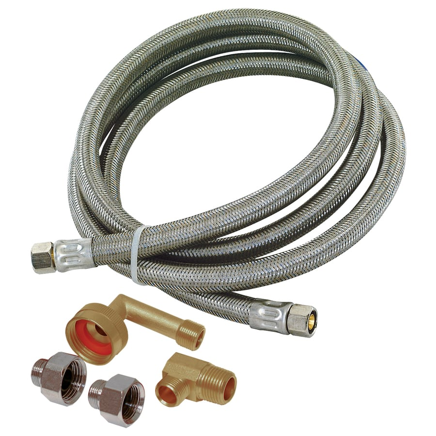 EASTMAN 8-ft 1500-PSI Stainless Steel Dishwasher Connector