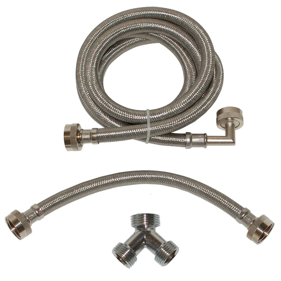 EASTMAN 72-in 3/4-in Hose Thread Inlet x 3/4-in Hose Thread Outlet Braided Stainless Steel Steam Dryer Installation Kit
