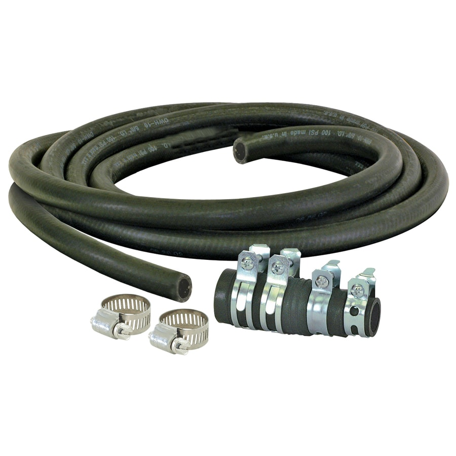 EASTMAN 6-Ft 200 Psi Rubber Dishwasher Drain Hose