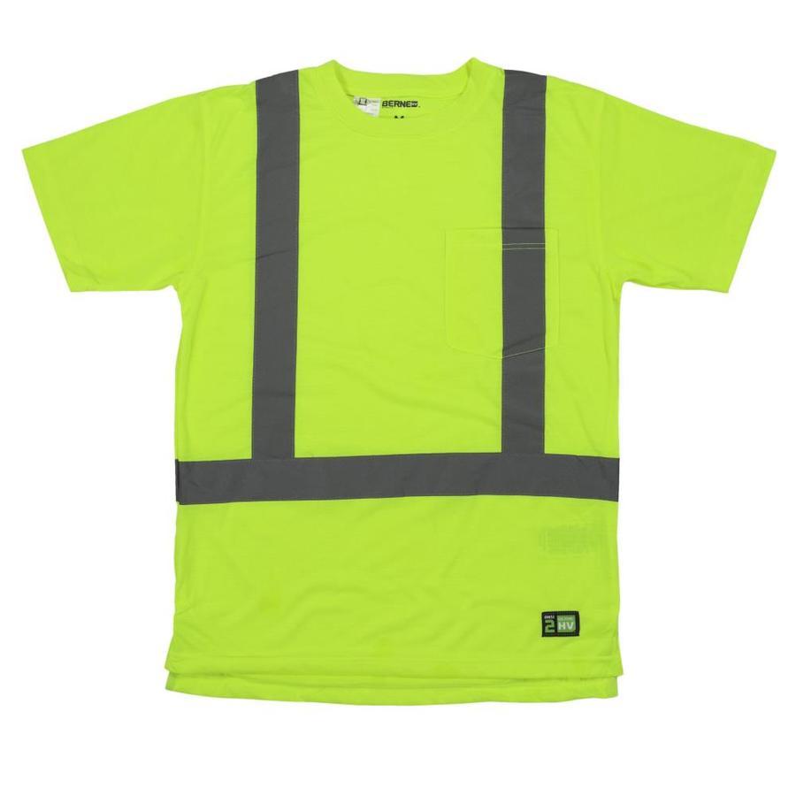 BERNE APPAREL Xxx-Large Hi-Vis Yellow High Visibility (Ansi Compliant) Enhanced Visibility (Reflective) T-Shirt