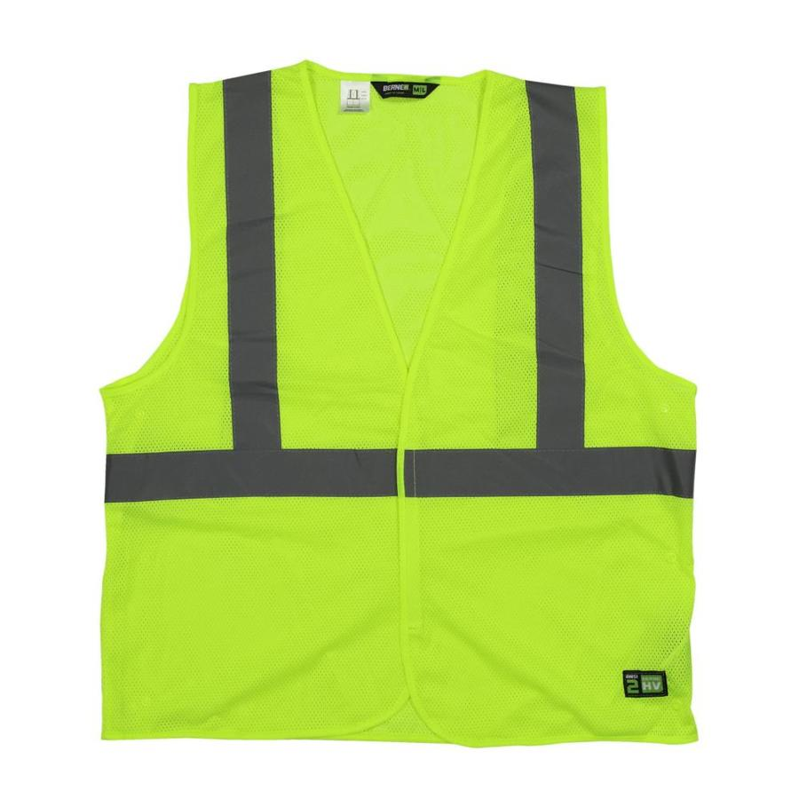 BERNE APPAREL 3XL/4XL Hi-Vis Yellow Polyester High Visibility Reflective Safety Vest