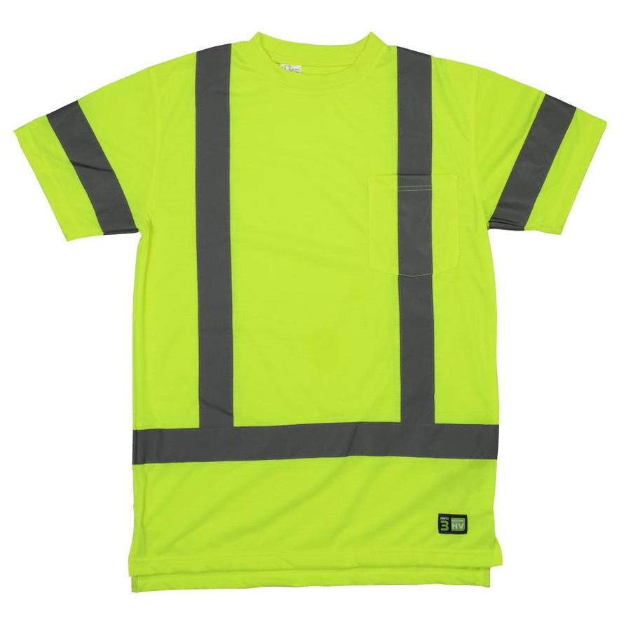 BERNE APPAREL X-Large-Long Safety Yellow High Visibility Reflective T-Shirt