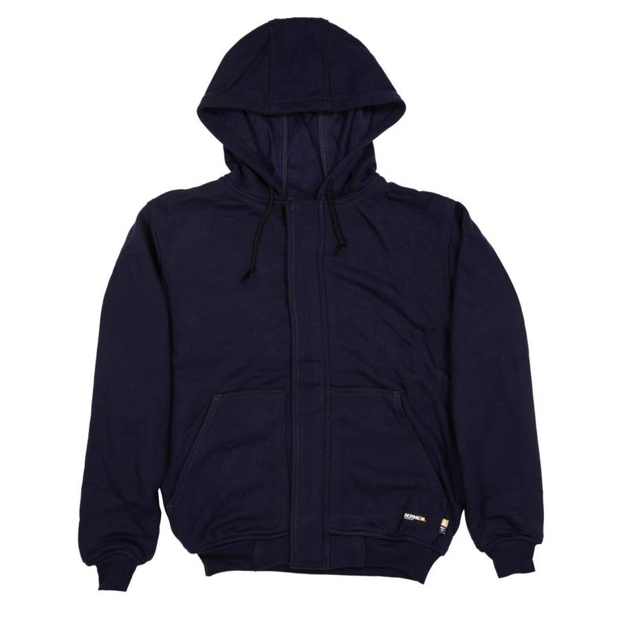 BERNE APPAREL Men's X-Large-Long Navy Flame Resistant Sweatshirt