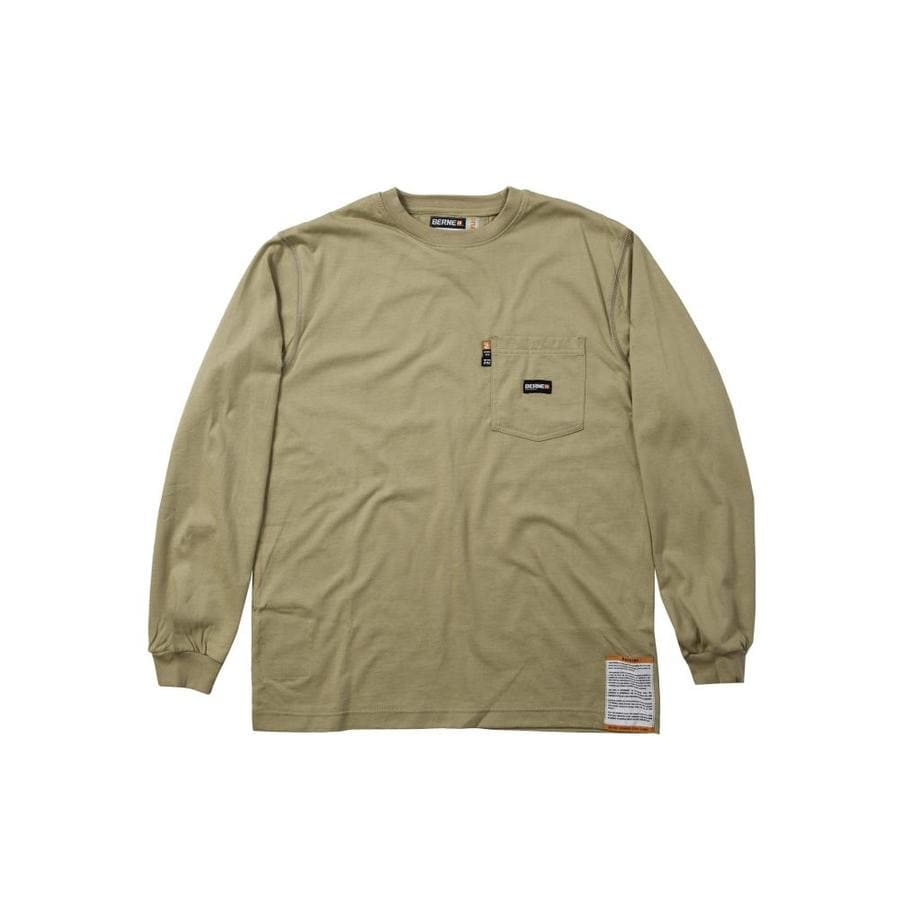 BERNE APPAREL Xxx-Large Khaki T-Shirt