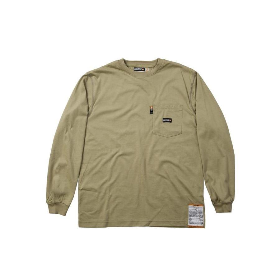 BERNE APPAREL Xxx-Large Khaki T-Shirt