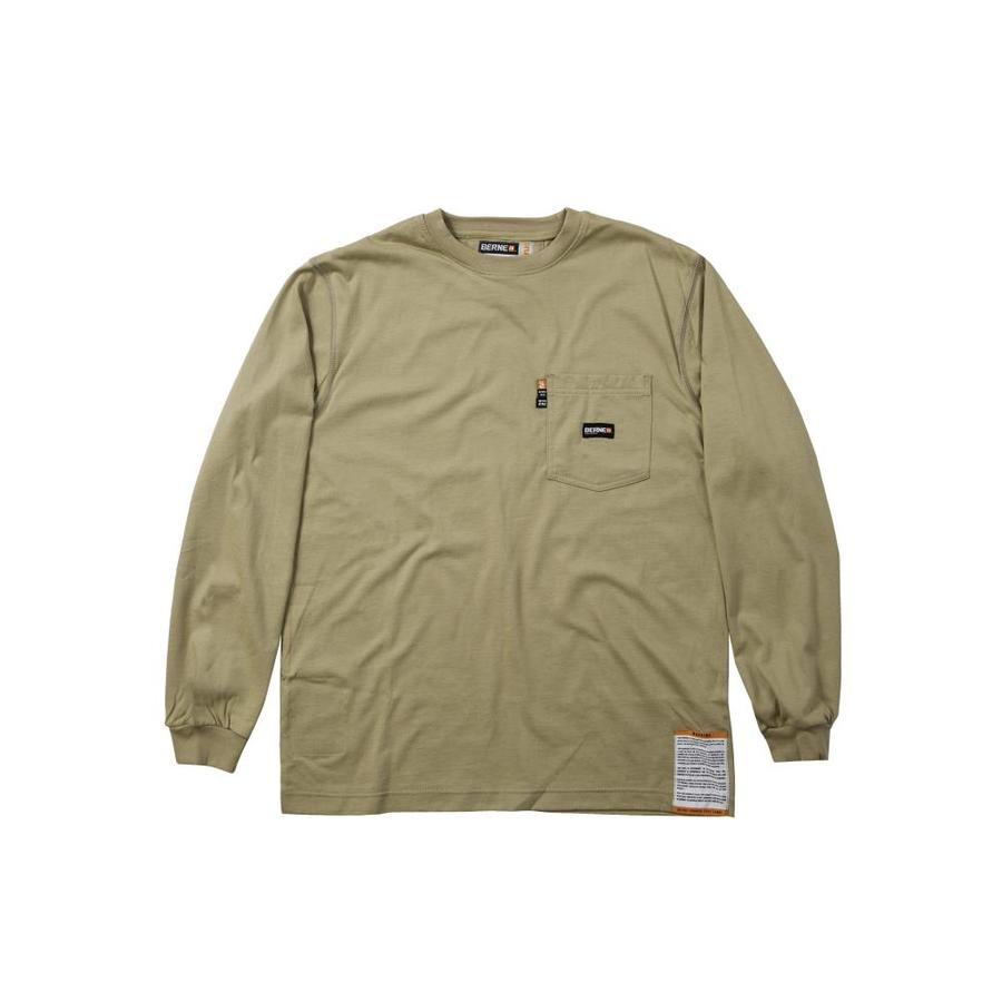 BERNE APPAREL 5Xl Khaki T-Shirt