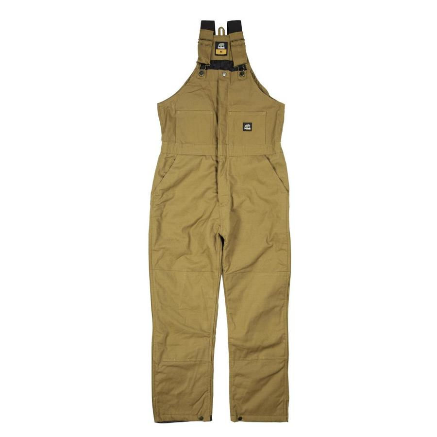 BERNE APPAREL Rigid Brown Men's Large-Short Duck Overalls