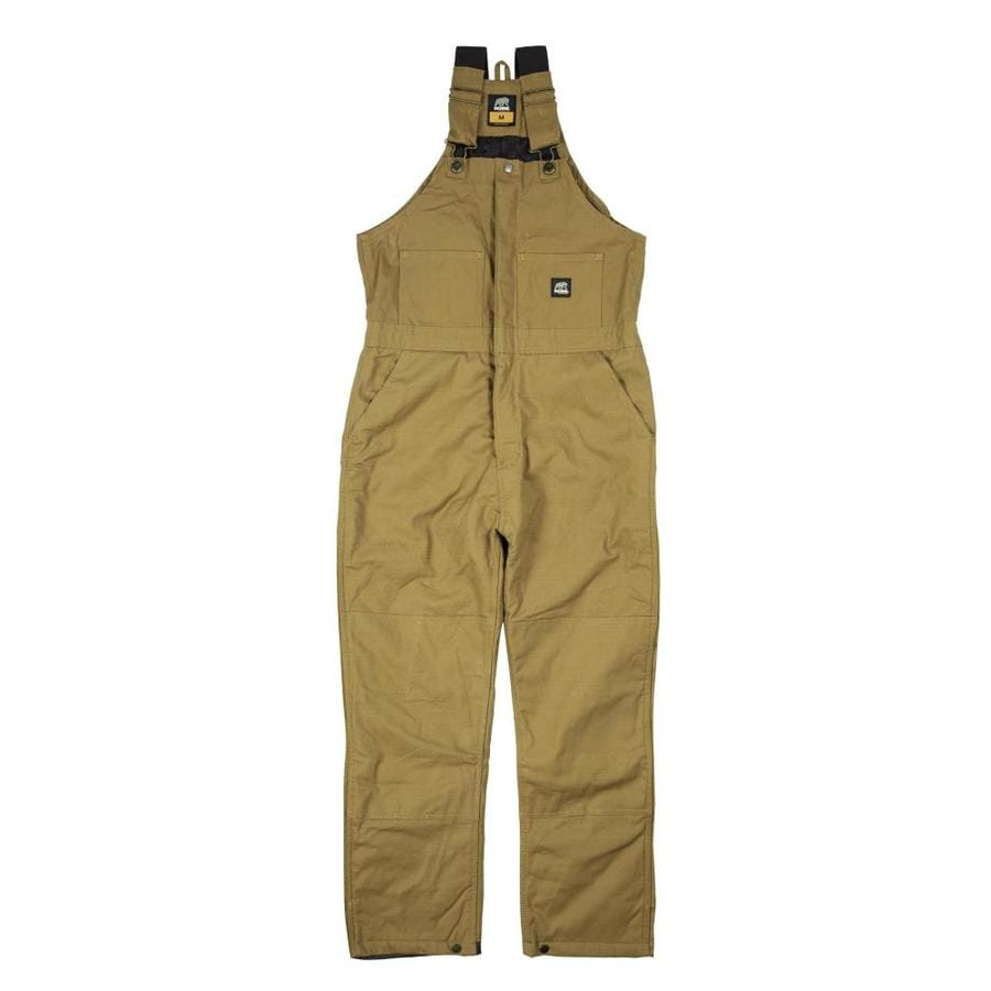 BERNE APPAREL Rigid Brown Men's Small Duck Overalls