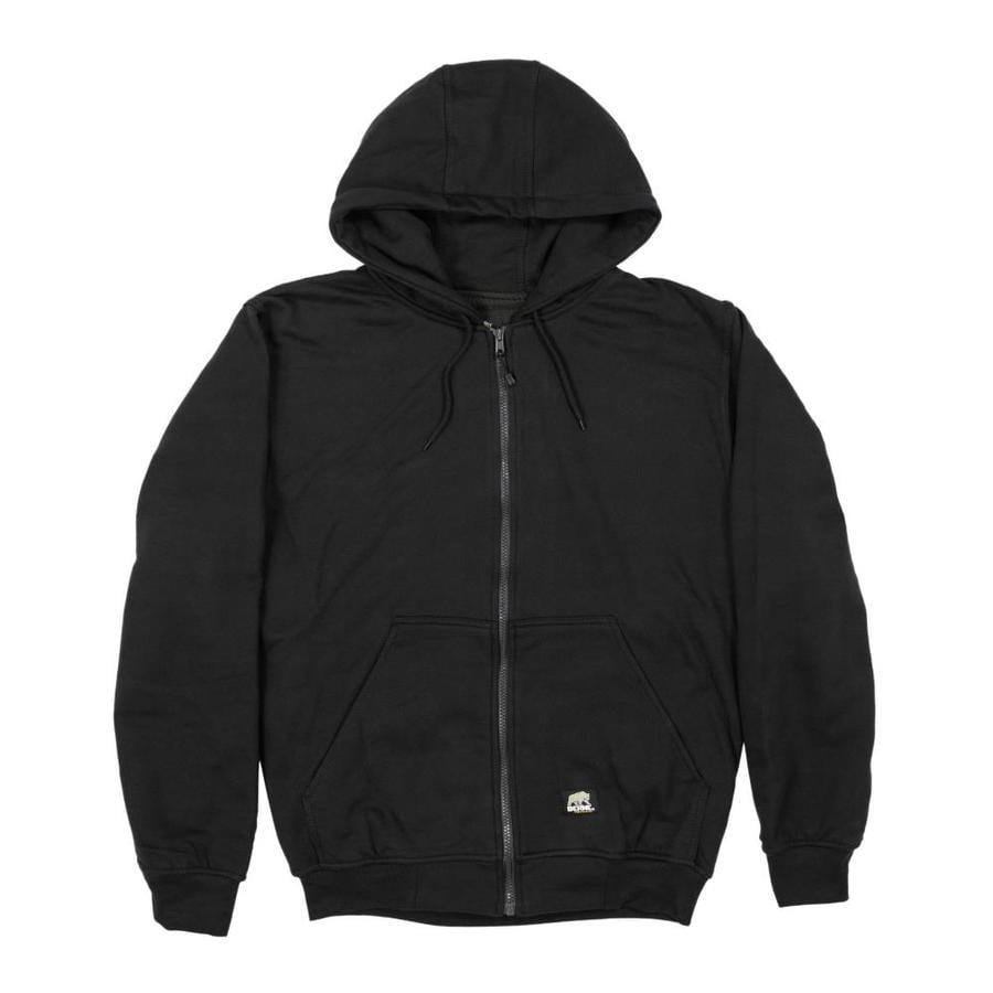 BERNE APPAREL Men's Large-Long Black Sweatshirt
