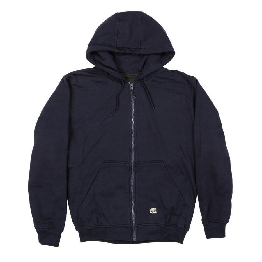 BERNE APPAREL Men's Large-Long Navy Sweatshirt