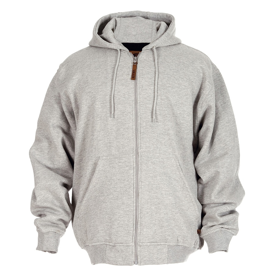 BERNE APPAREL Men's Large-Long Heather Grey Sweatshirt