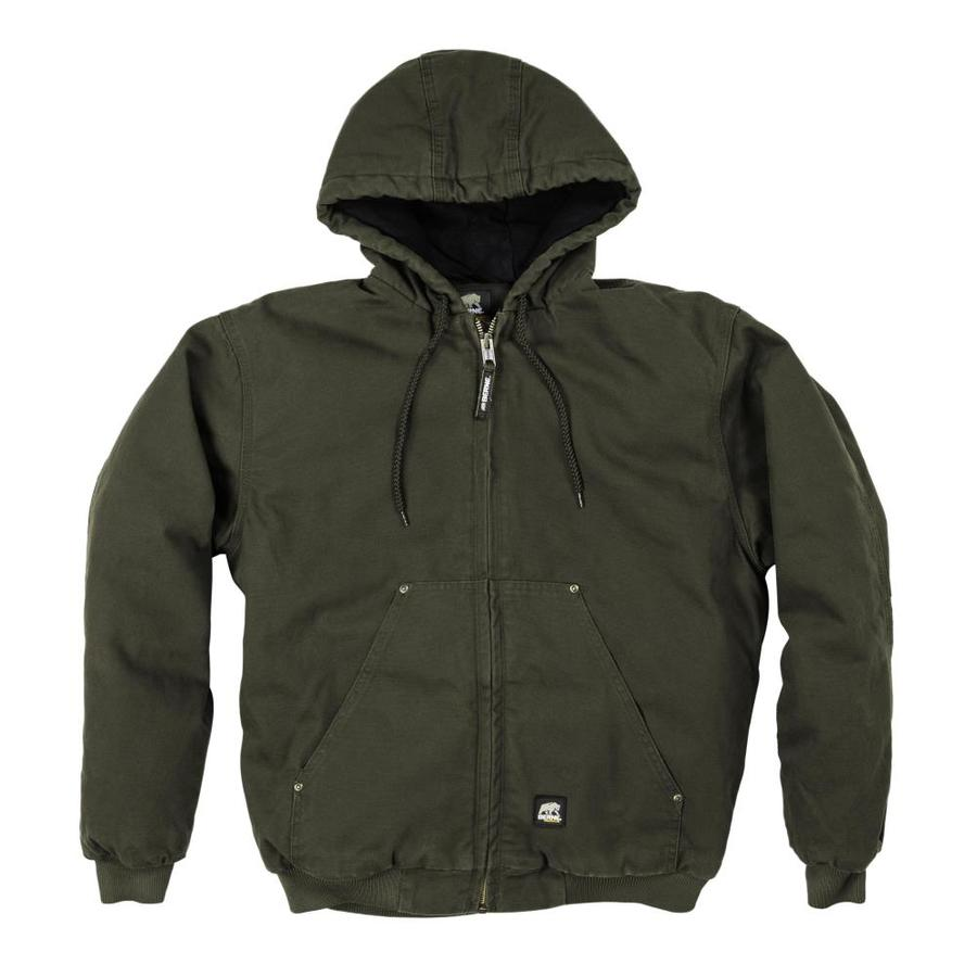 BERNE APPAREL XXL-Long Men's Washed Duck Work Jacket