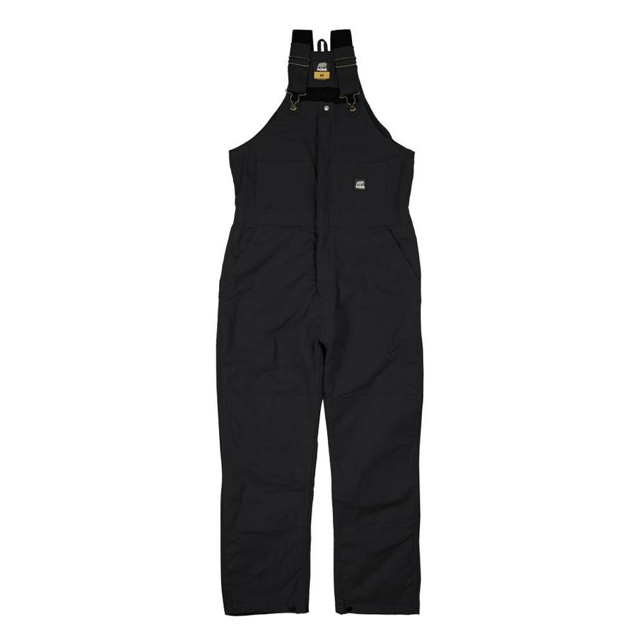 BERNE APPAREL Rigid Black Men's Medium-Short Duck Overalls