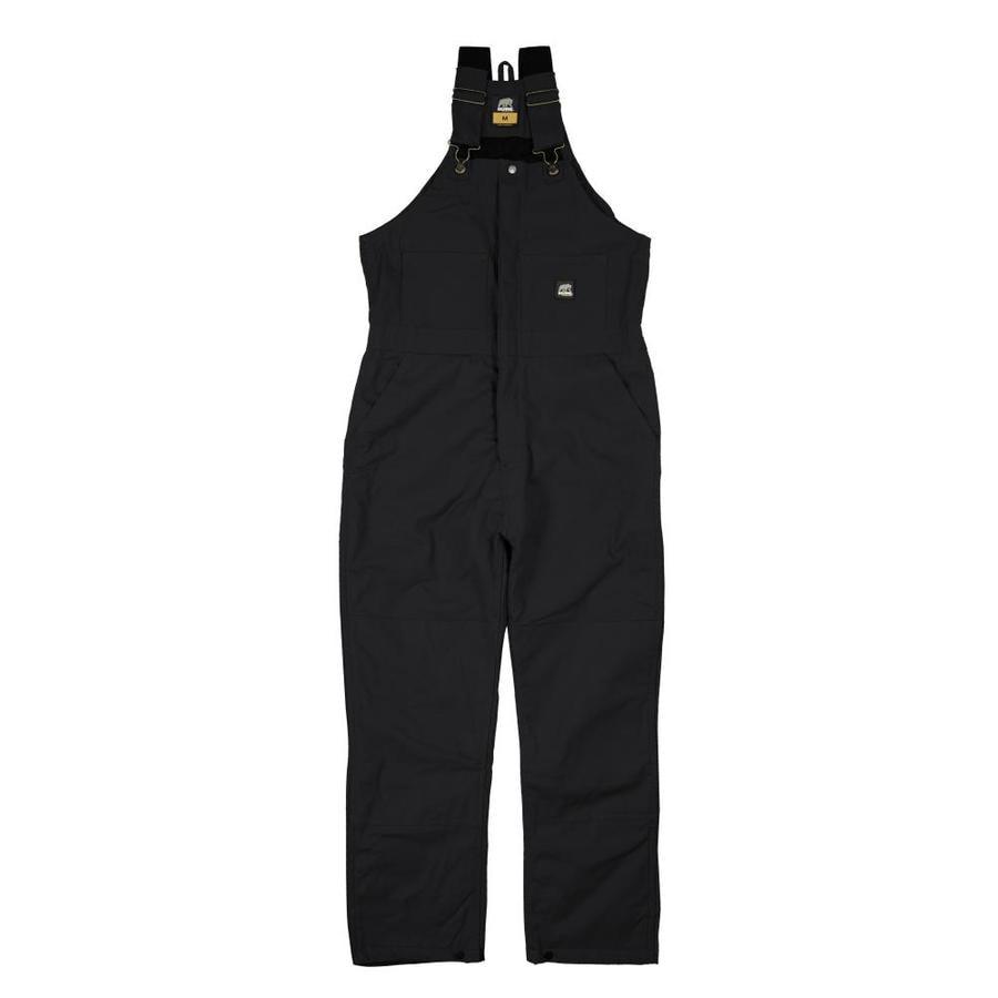 BERNE APPAREL Rigid Black Men's 5XL-Short Duck Overalls