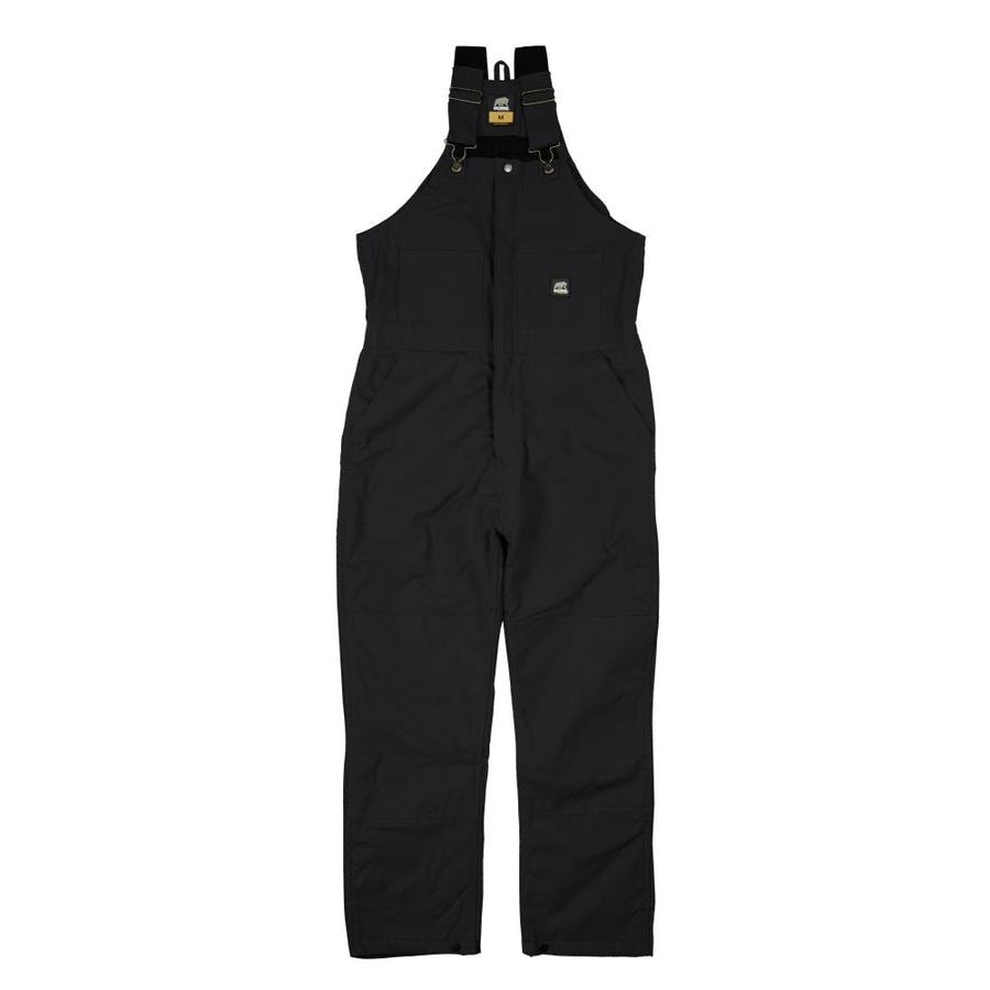BERNE APPAREL Rigid Black Men's Large-Long Duck Overalls
