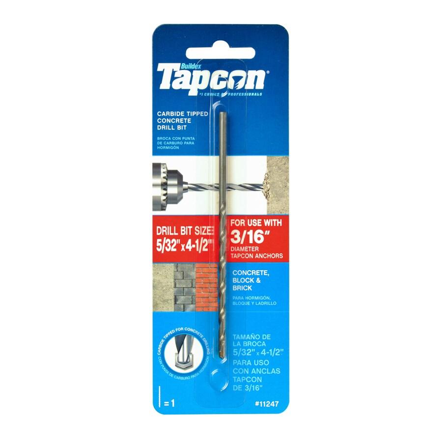 Tapcon 5/32-in x 4-1/2-in Concrete Drill Bit