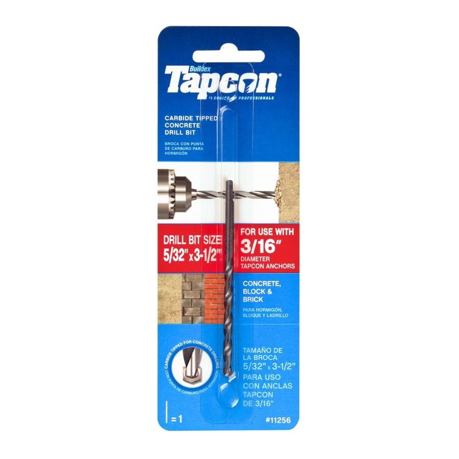 Tapcon 5/32-in x 3-1/2-in Concrete Drill Bit