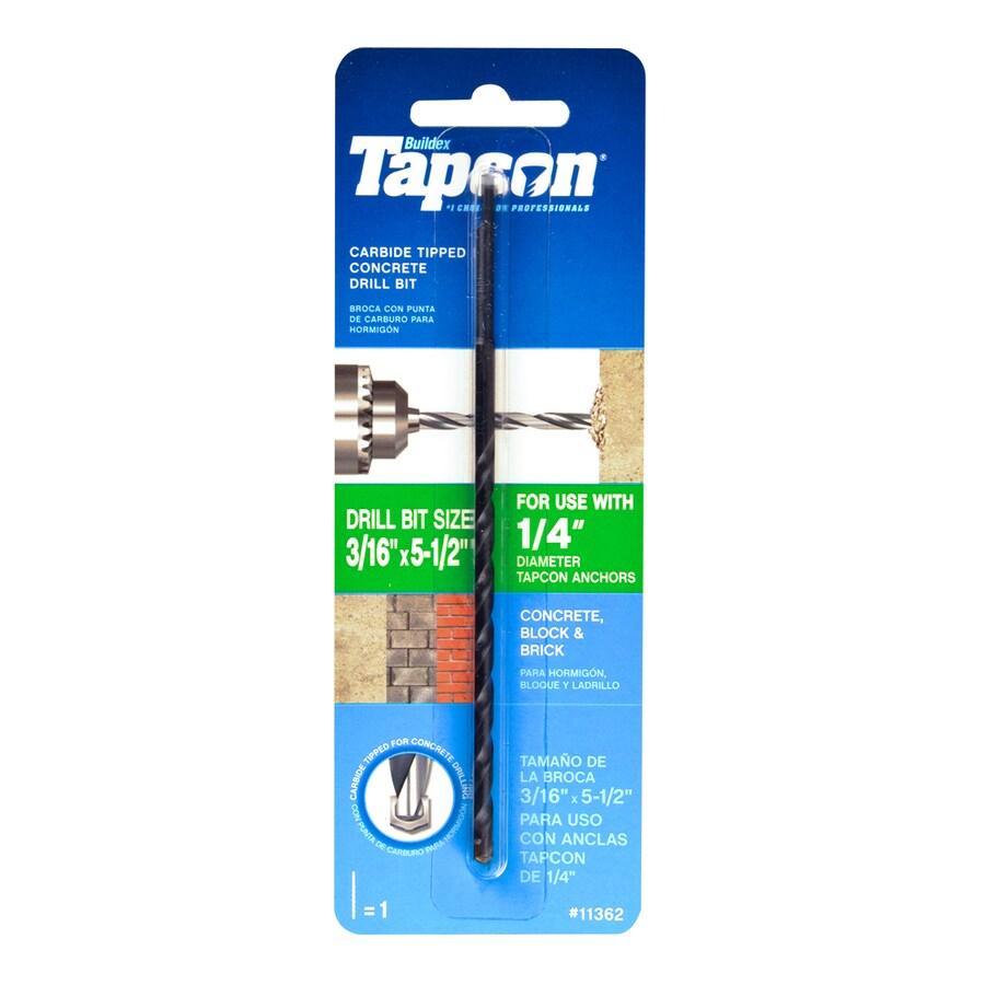 Tapcon 3/16-in x 5-1/2-in Concrete Drill Bit