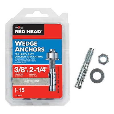 Red Head 15-Pack 2-1/4-in x 3/8-in Wedge Anchors at Lowes com