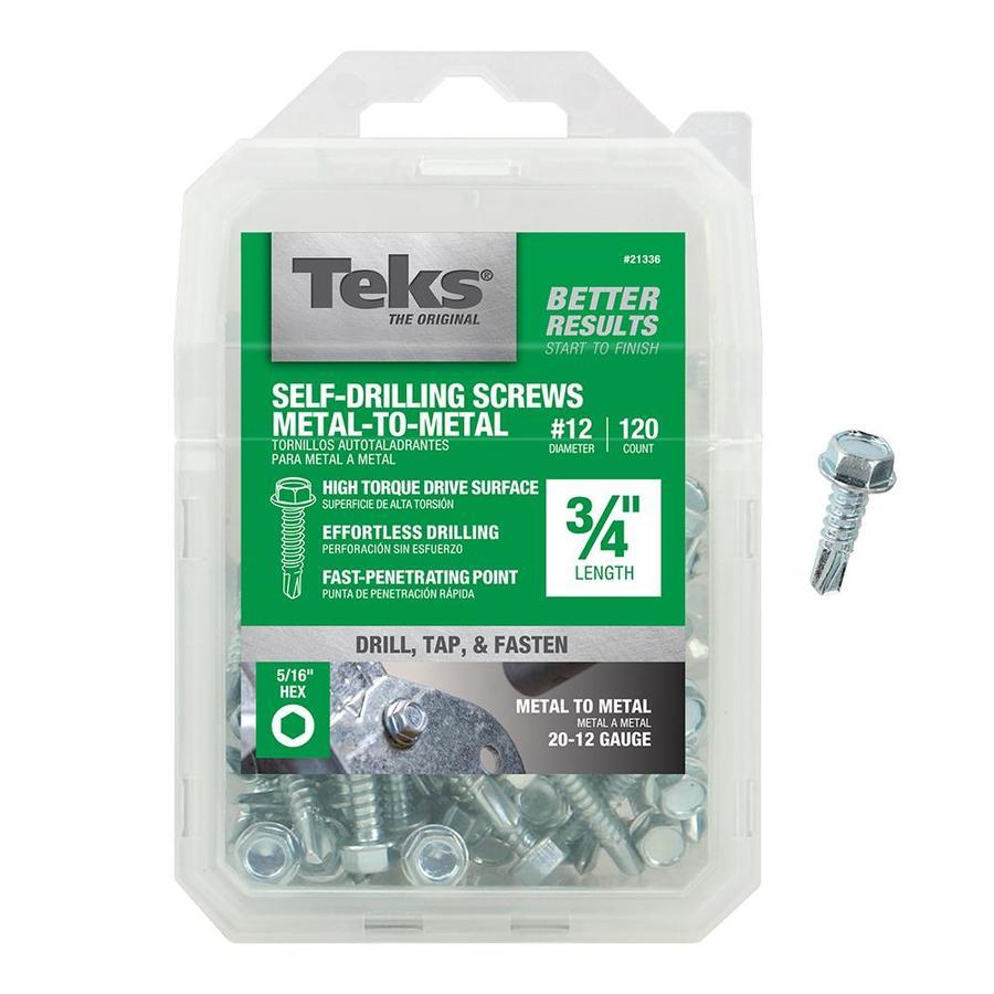 Teks 120-Count #12 x 3/4-in Standard (SAE) Machine Screws