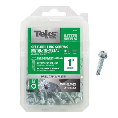 Teks 12 X 1 In Socket Hex Drive Sheet Metal Screws 100 Count In The Sheet Metal Screws Department At Lowes Com