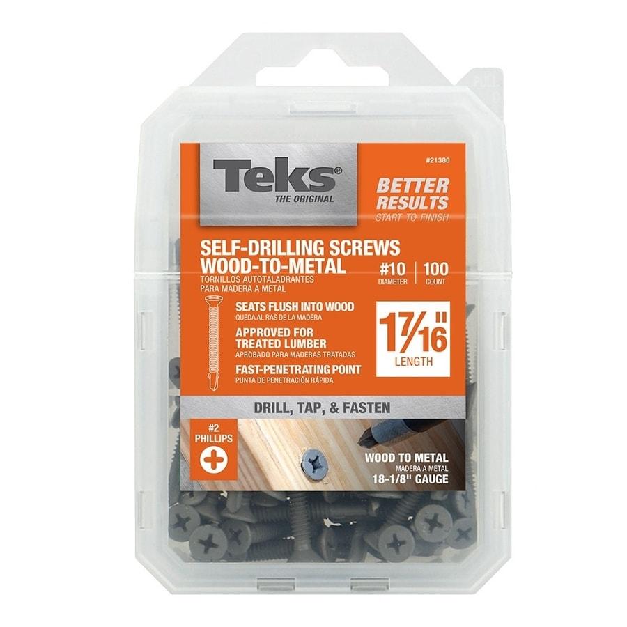 Teks 100-Count #10 to 24 x 1.438-in Flat-Head Zinc-Plated Phillips-Drive Standard (SAE) Machine Screws