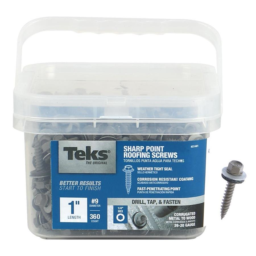 Teks 9 X 1 In Climaseal Coating Zinc Plated Self Drilling