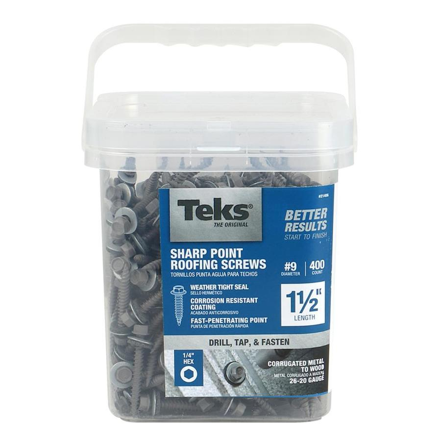 Teks 400 Count #9 X 1.5 In Zinc Plated Self Drilling